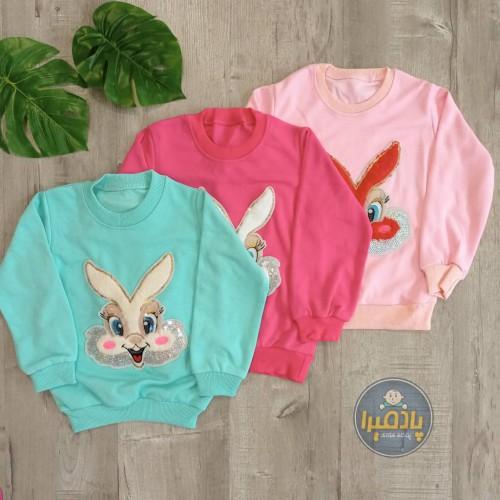 بلوز لاینردار طرح خرگوش دخترانه