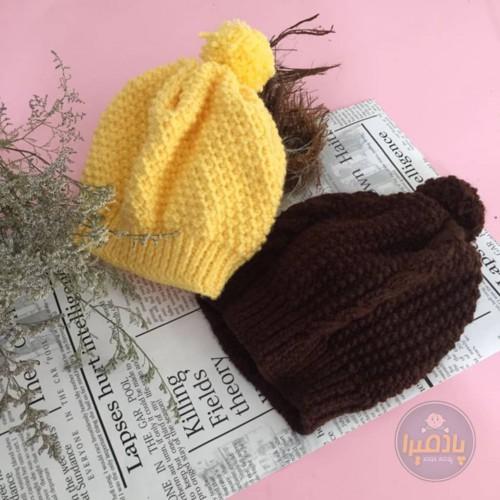 کلاه تکه دست بافت اسپرت ( دخترانه و پسرانه )