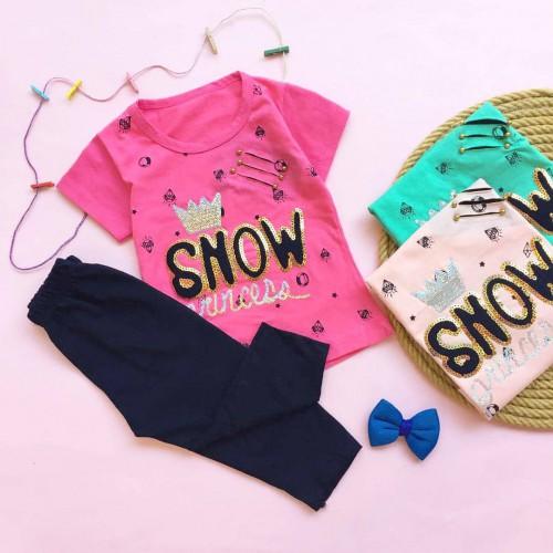تیشرت شلوارک snow ( دخترانه )