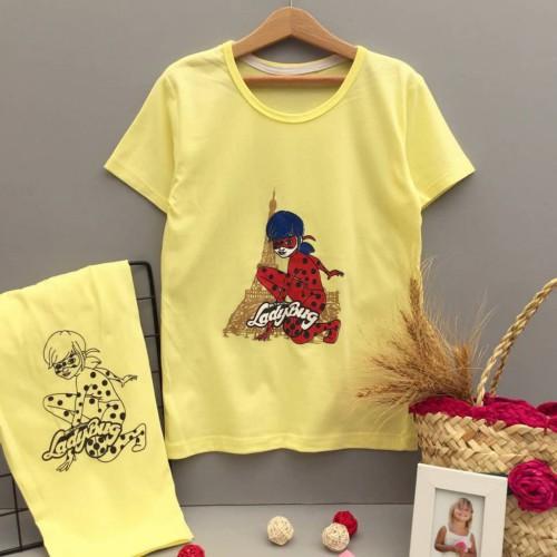 تیشرت شلوارک دختر ایفل (دخترانه)