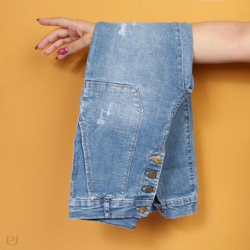 شلوار جین دمپا دکمه