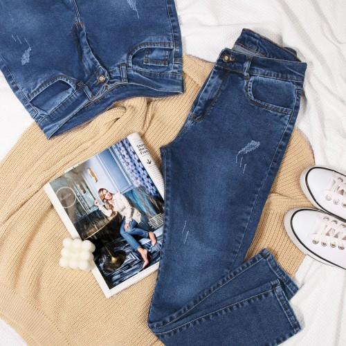 شلوار جین آبی کد 2121